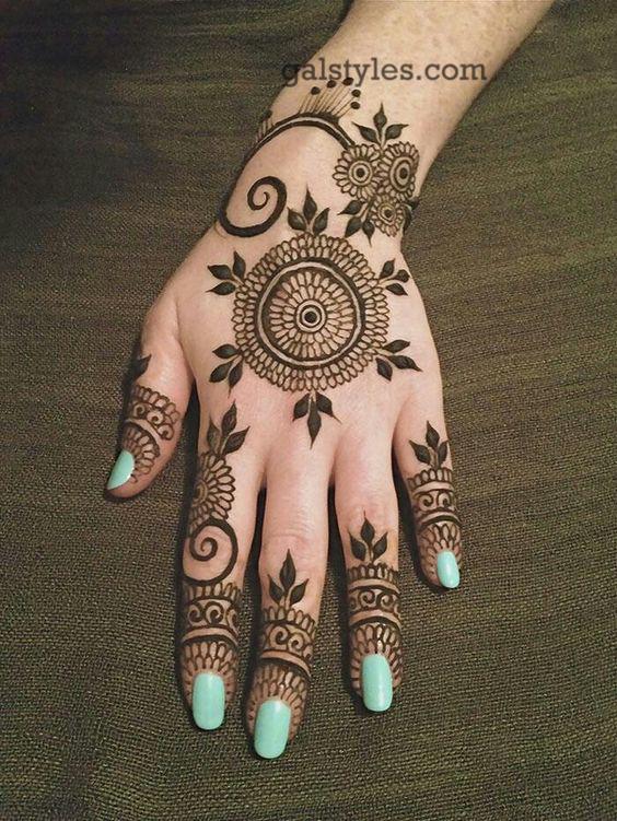 Simple Best Eid Mehndi Designs For Girls 2016 2017
