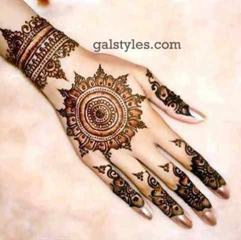 Simple & Best Eid Mehndi Designs for Girls 2016-2017 (55)