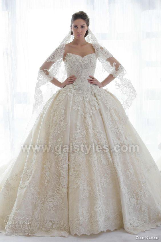 Latest Western Wedding Dresses Bridal Gowns (4)