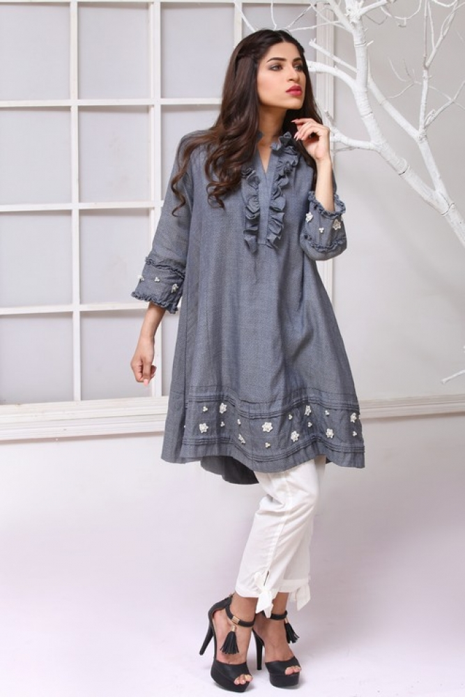 Latest Women Kurta Styles Designs 2018-19 by Change Kurta Collection - Galstyles.com