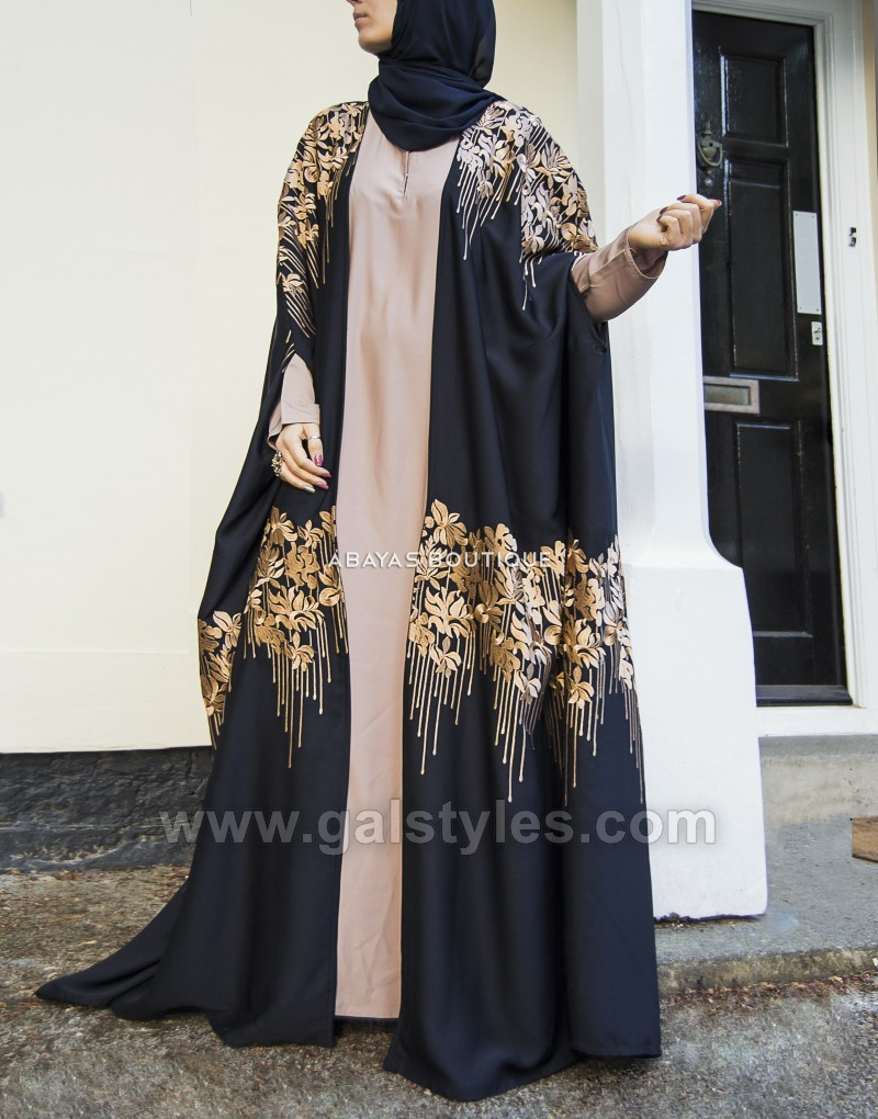 Latest designer abaya gowns hijab designs 2018 2019 collection for Cape designs