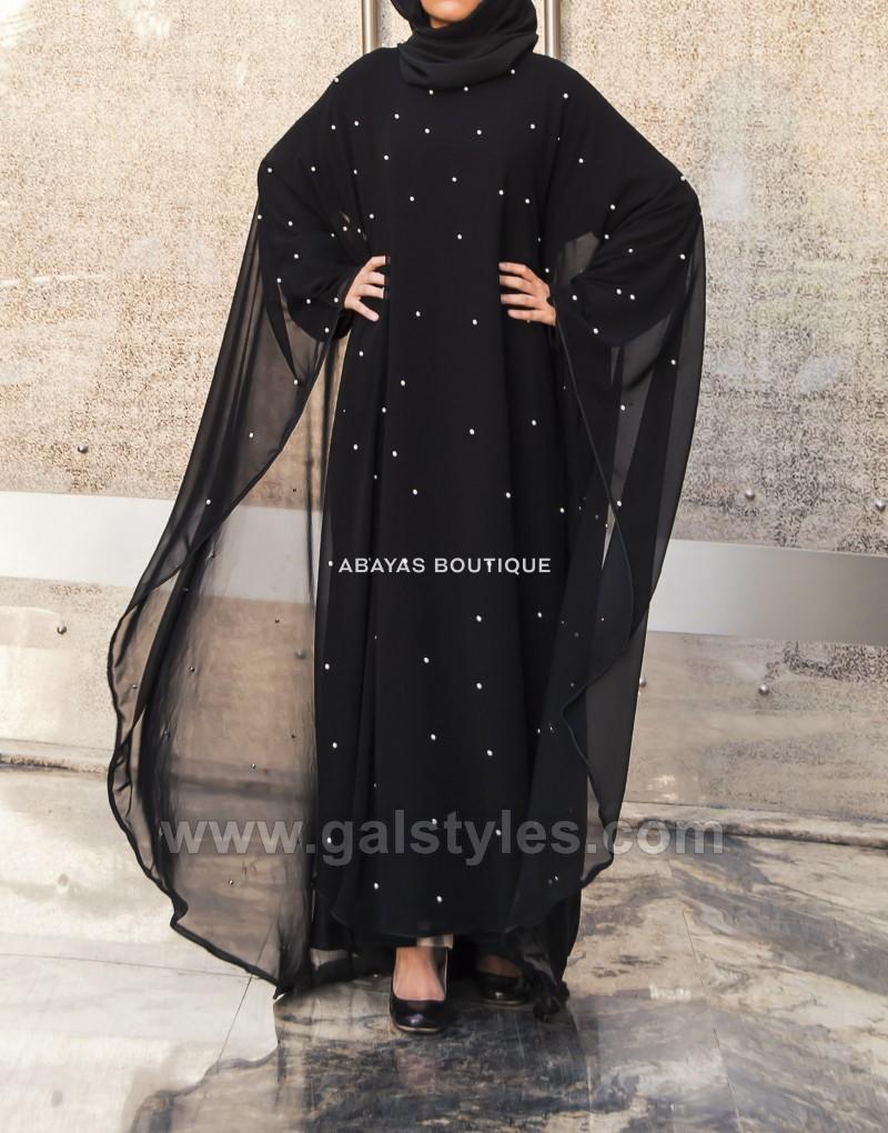 Latest designer abaya gowns hijab designs 2018 2019 collection for Images of designer