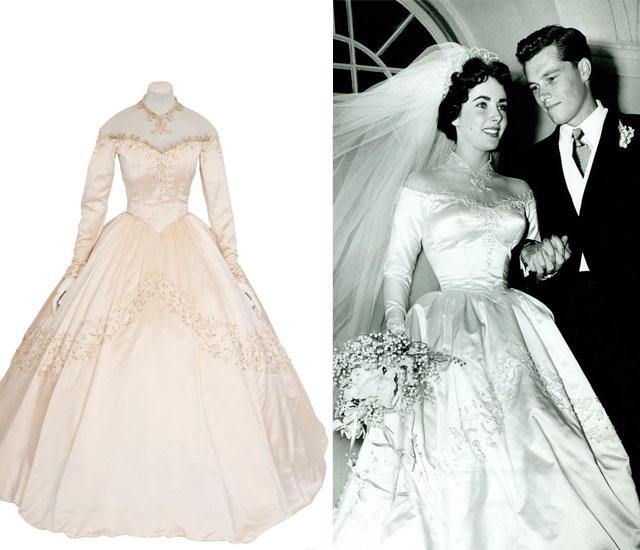 Top 10 most famous best hollywood celebrity wedding dresses for Elizabeth taylor wedding dress