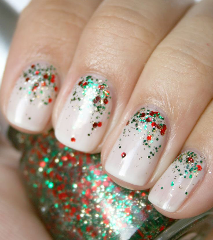 Christmas Nails Green And Red: Top 5 Easiest & Amazing Christmas Nail Art Designs 2019-2020