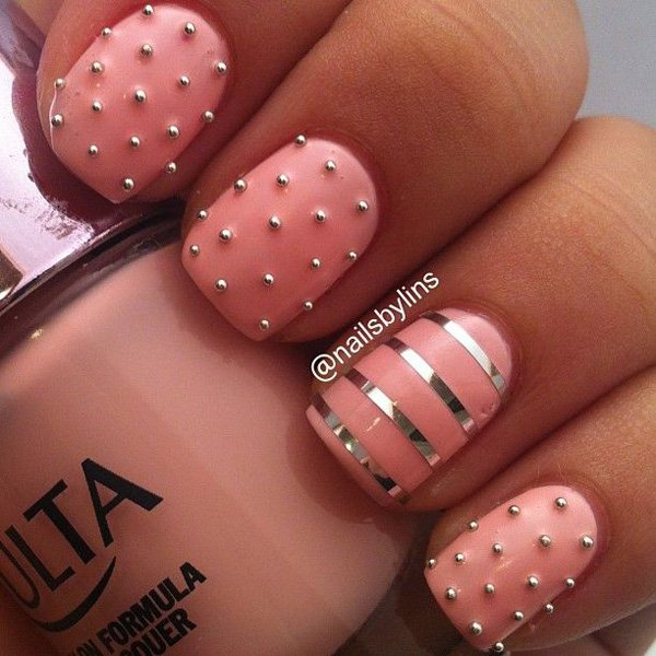 pink-metallic-nails-top-5-easiest-amazing-winter-christmas-holidays-nail-art-designs