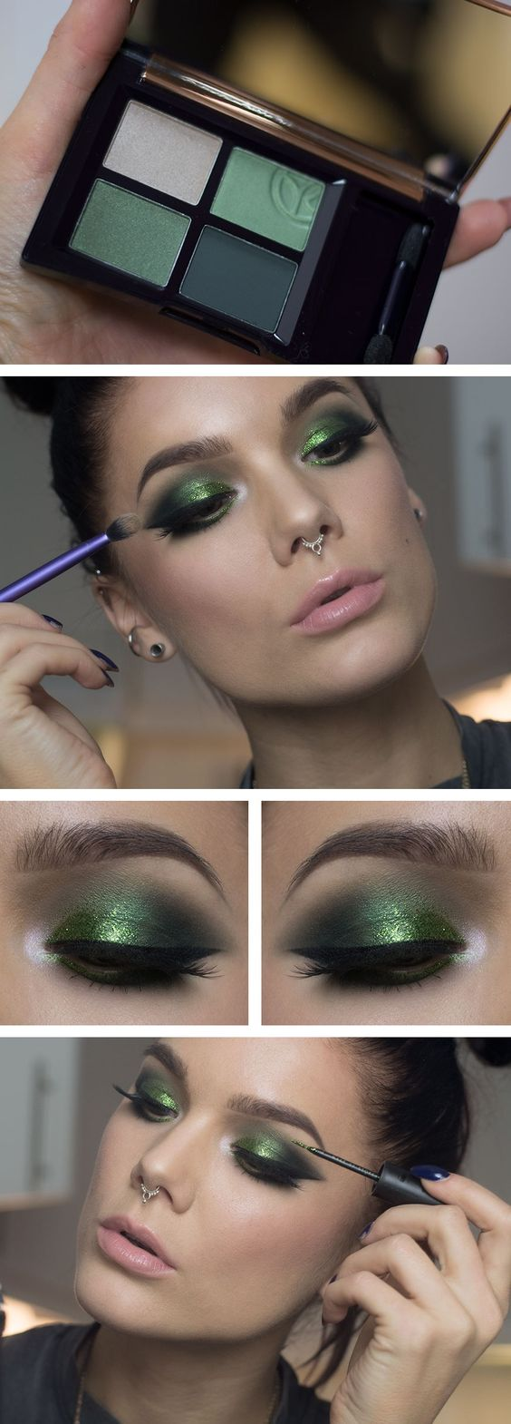 burst-of-green-christmas-makeup-1