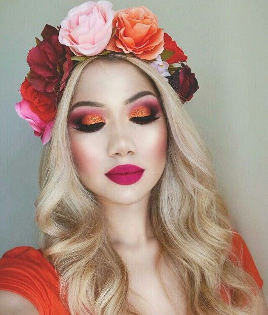 orange-tint-christmas-makeup-ideas-4