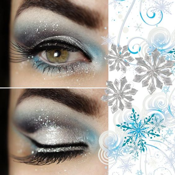snowflake-makeup-christmas-makeup-ideas-1