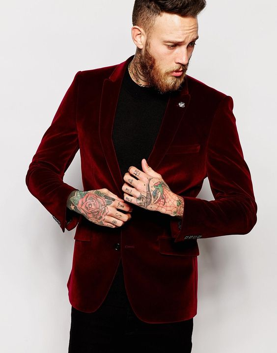 burgundy-velvet-mens-christmas-dress-up-trends-4