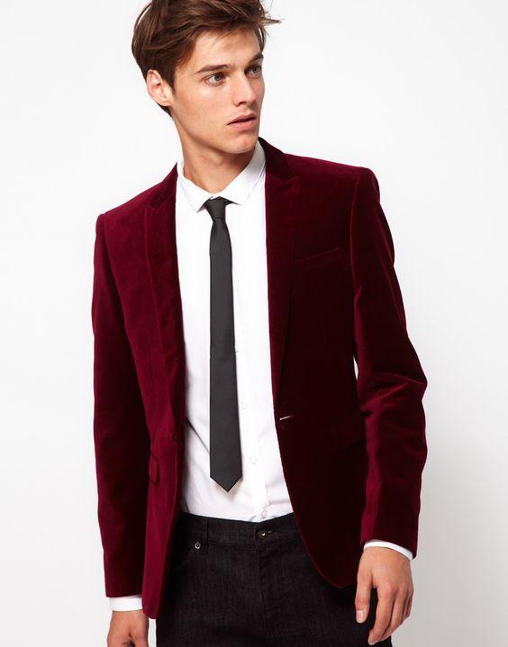 burgundy velvet mens christmas dress up trends 5 - Christmas Suits For Mens