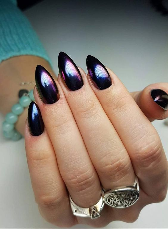 Beautiful Metallic Chrome Nail Art Designs & Tutorial (4)
