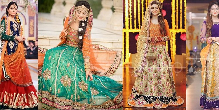 Bridal Mehndi Dresses Collection & latest trends