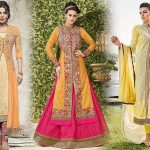 "5 Different Indian Dresses Styles in the colour ""Yellow"" for Spring"