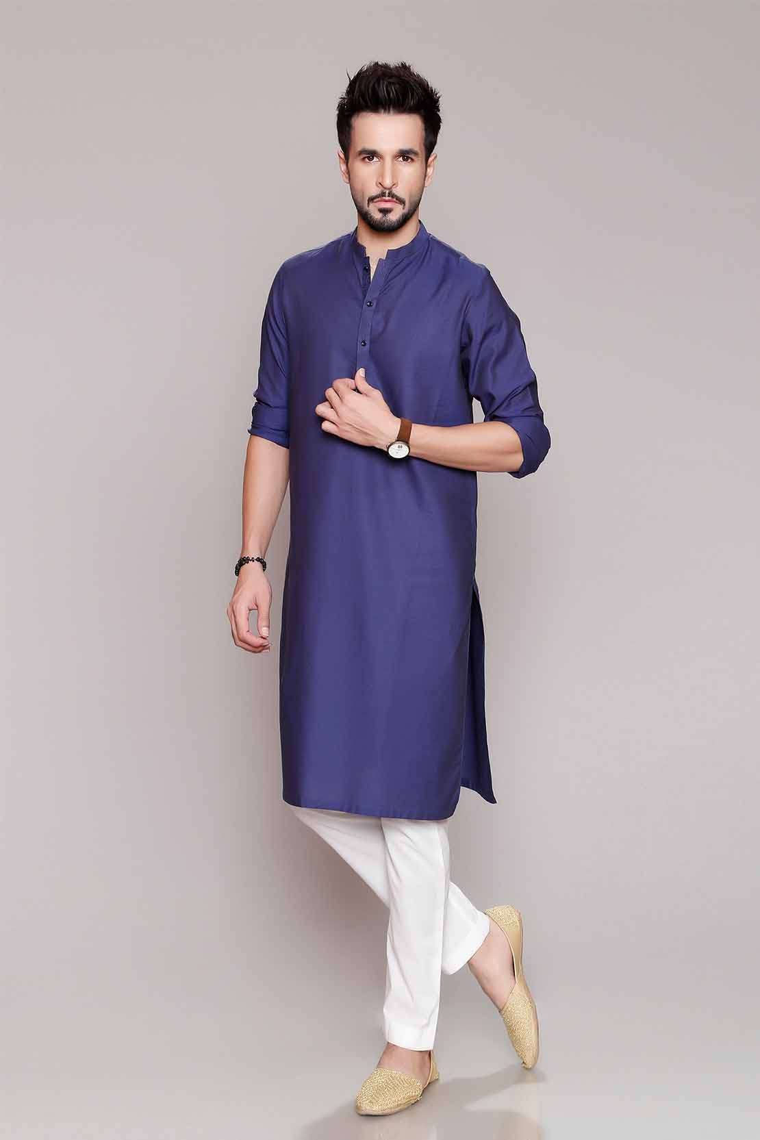 Latest Men Modern Kurta Styles Designs Collection 2018-19 by Chinyere