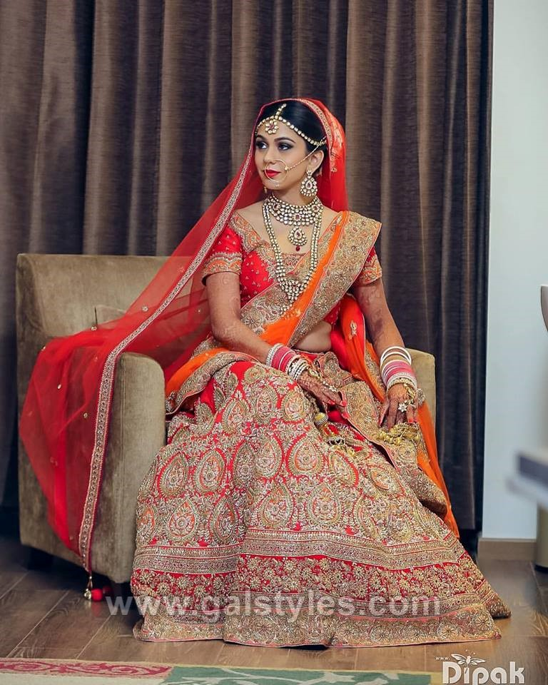Modern Indian Bride Hairstyle: Indian Latest Bridal Lehenga Designs & Trends 2018-2019