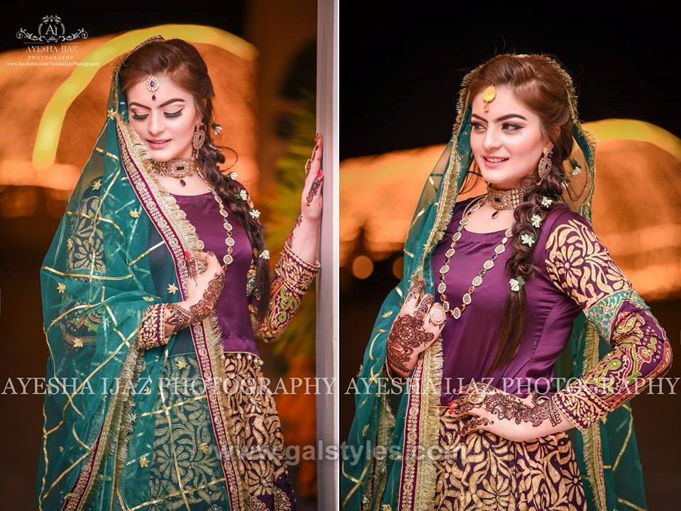 Latest Bridal Mehndi Dress Design & Trends Collection 2019
