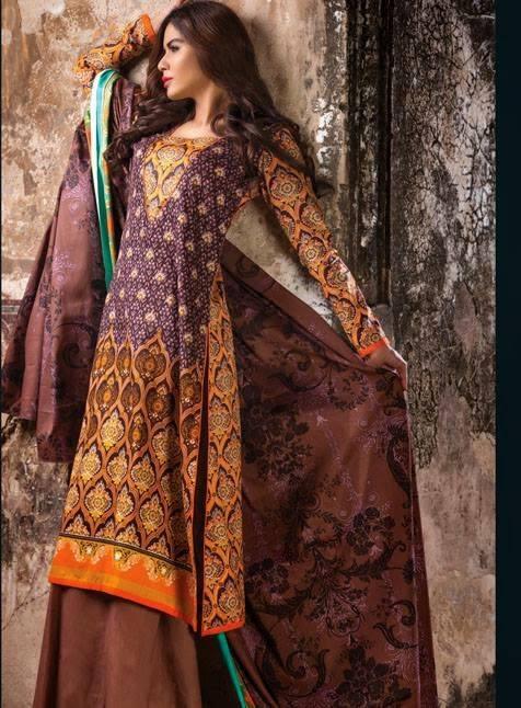 AlKaram Studio Trendy Winter Dresses Glamorous Fall Collection for Women 2014-2015 (13)