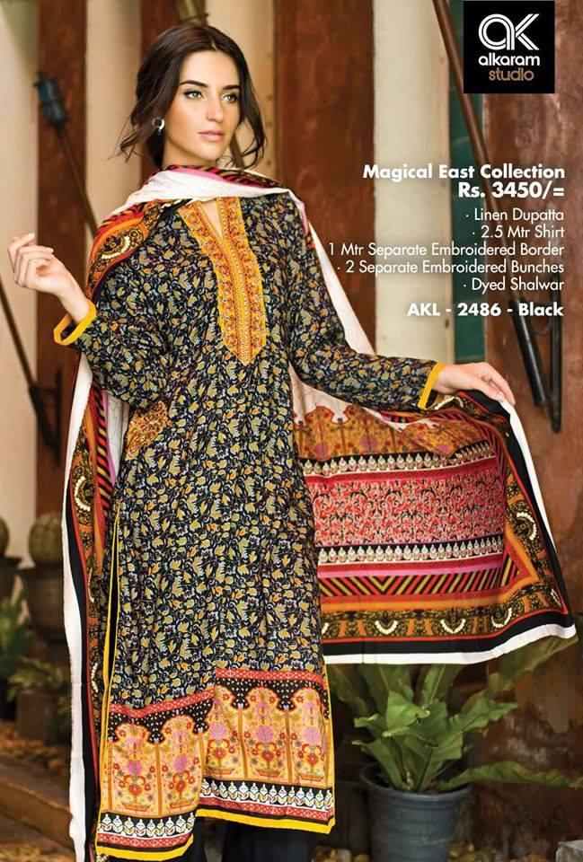 AlKaram Studio Trendy Winter Dresses Glamorous Fall Collection for Women 2014-2015 (14)