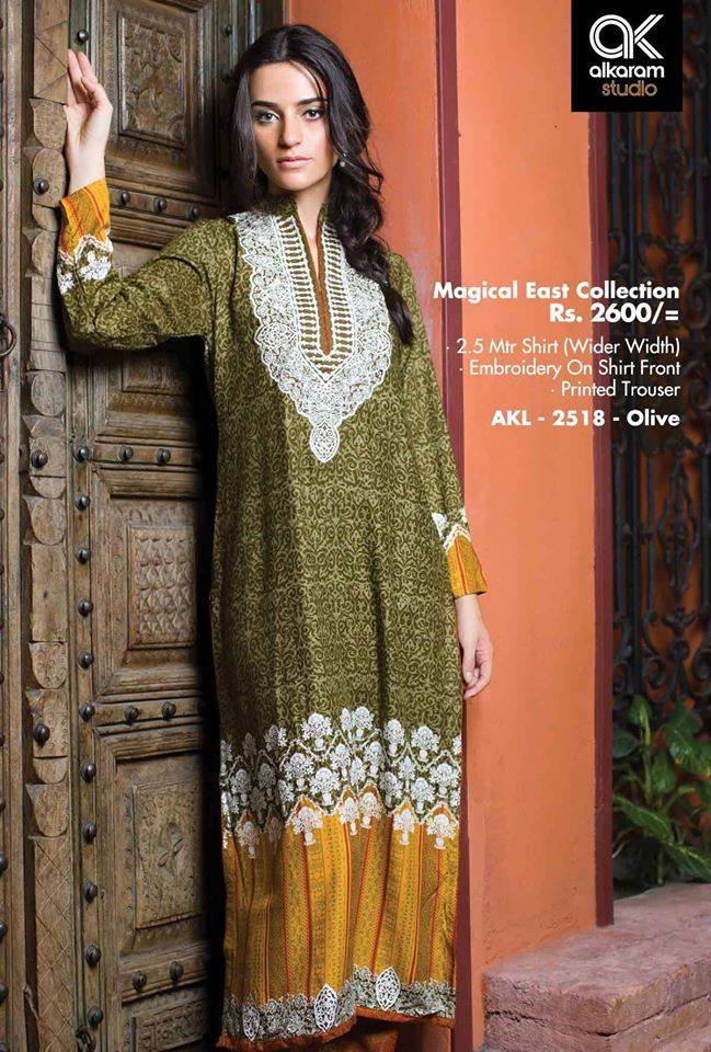 AlKaram Studio Trendy Winter Dresses Glamorous Fall Collection for Women 2014-2015 (15)