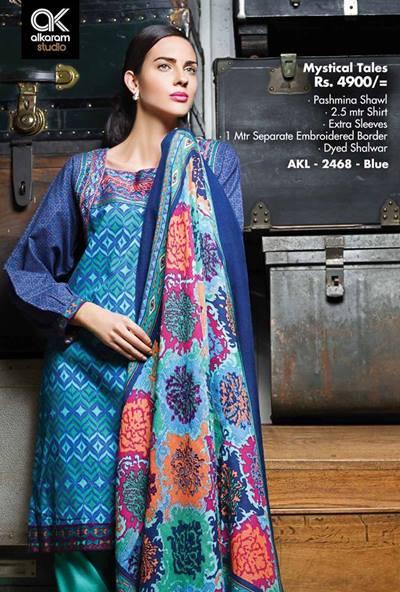 AlKaram Studio Trendy Winter Dresses Glamorous Fall Collection for Women 2014-2015 (22)