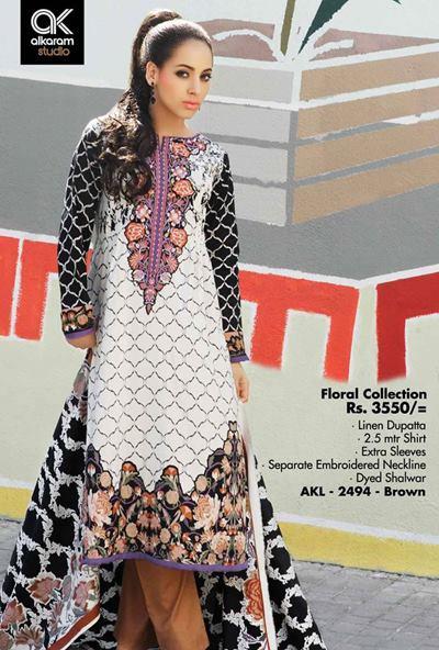 AlKaram Studio Trendy Winter Dresses Glamorous Fall Collection for Women 2014-2015 (26)