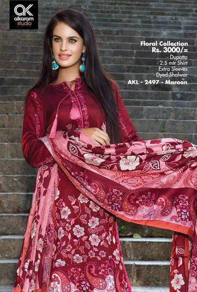 AlKaram Studio Trendy Winter Dresses Glamorous Fall Collection for Women 2014-2015 (27)