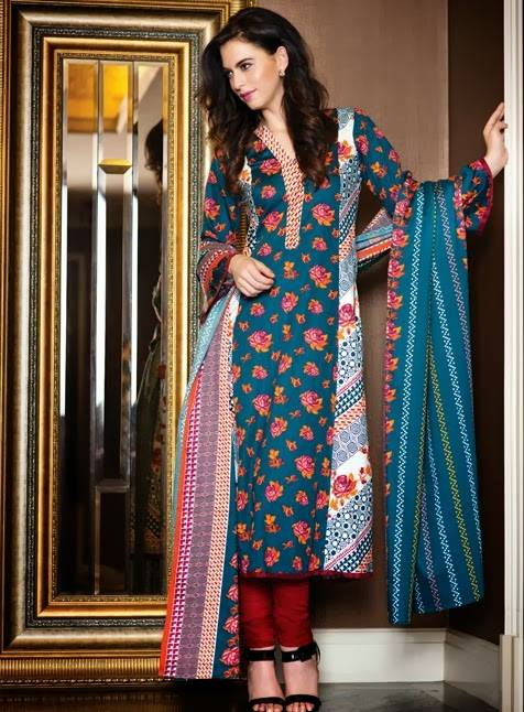 AlKaram Studio Trendy Winter Dresses Glamorous Fall Collection for Women 2014-2015 (7)