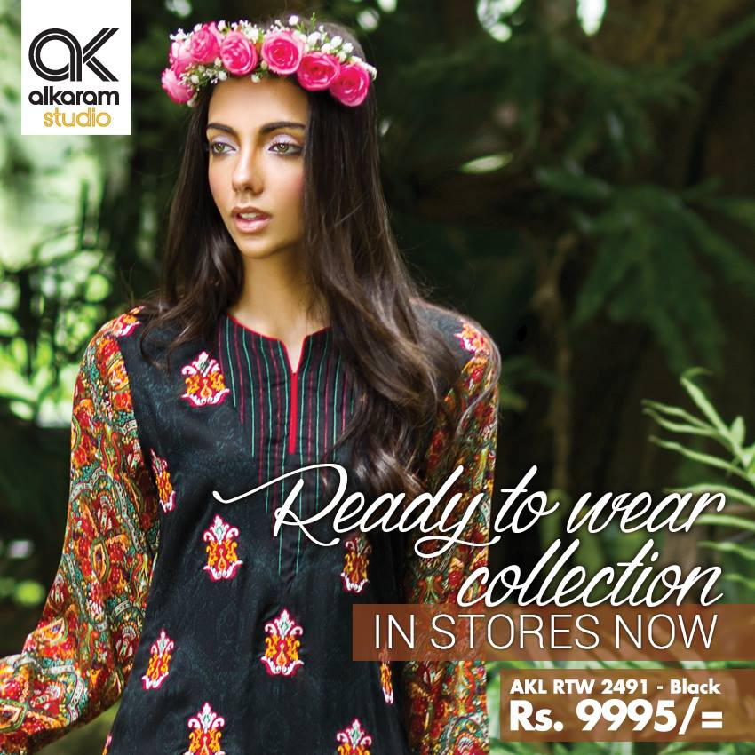 AlKaram Studio Trendy Winter Dresses Glamorous Fall Collection for Women 2014-2015 (9)