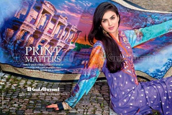 Gul Ahmed Best Winter Dresses Collection for Women 2014-2015 (11)