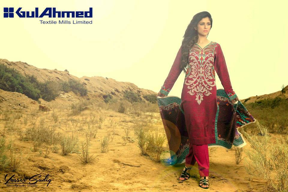 Gul Ahmed Best Winter Dresses Collection for Women 2014-2015 (2)