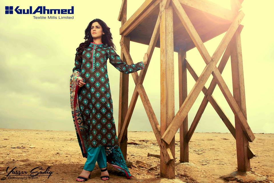 Gul Ahmed Best Winter Dresses Collection for Women 2014-2015 (6)
