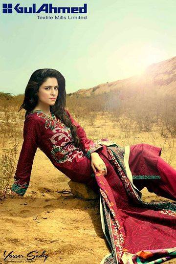 Gul Ahmed Best Winter Dresses Collection for Women 2014-2015 (8)