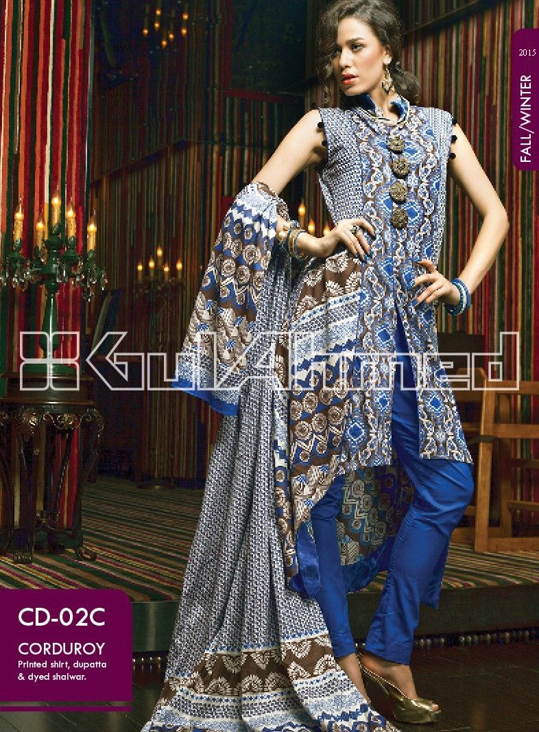 Gul Ahmed Printed Khaddar & Pashmina Shawl Suits Winter Collection 2014-2015 (12)