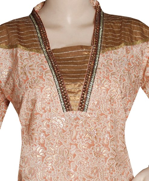 Latest Indian & Pakistani Best Neck-line (Gala) designs for Girls 2014-2015 (24)