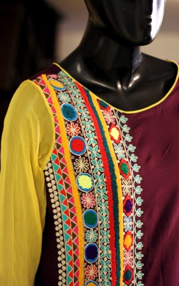 Latest Indian Pakistani Best Neck Line Gala Designs For Girls