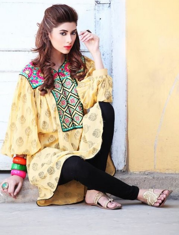 Latest Indian & Pakistani Best Neck-line (Gala) designs for Girls 2014-2015 (37)