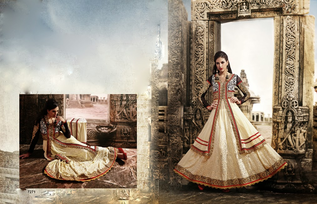Latest Jacket Style Dresses Anarkali Suits & Gowns 2014-2015 for Girls (1)