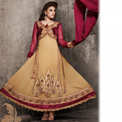 Latest Jacket Style Dresses Anarkali Suits & Gowns 2014-2015 for Girls (10)