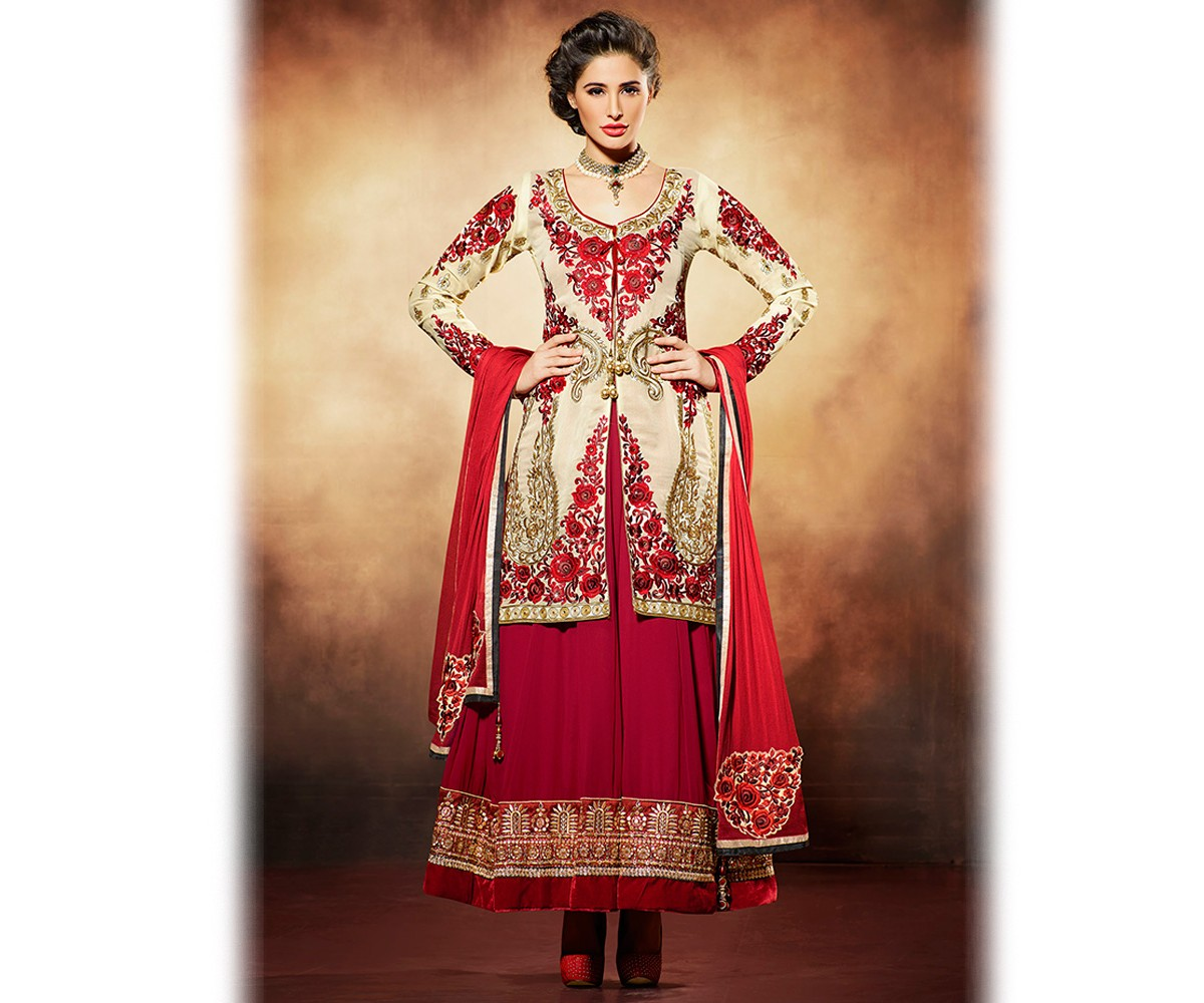 Latest Jacket Style Dresses Anarkali Suits & Gowns 2014-2015 for Girls (13)