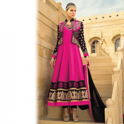 Latest Jacket Style Dresses Anarkali Suits & Gowns 2014-2015 for Girls (16)