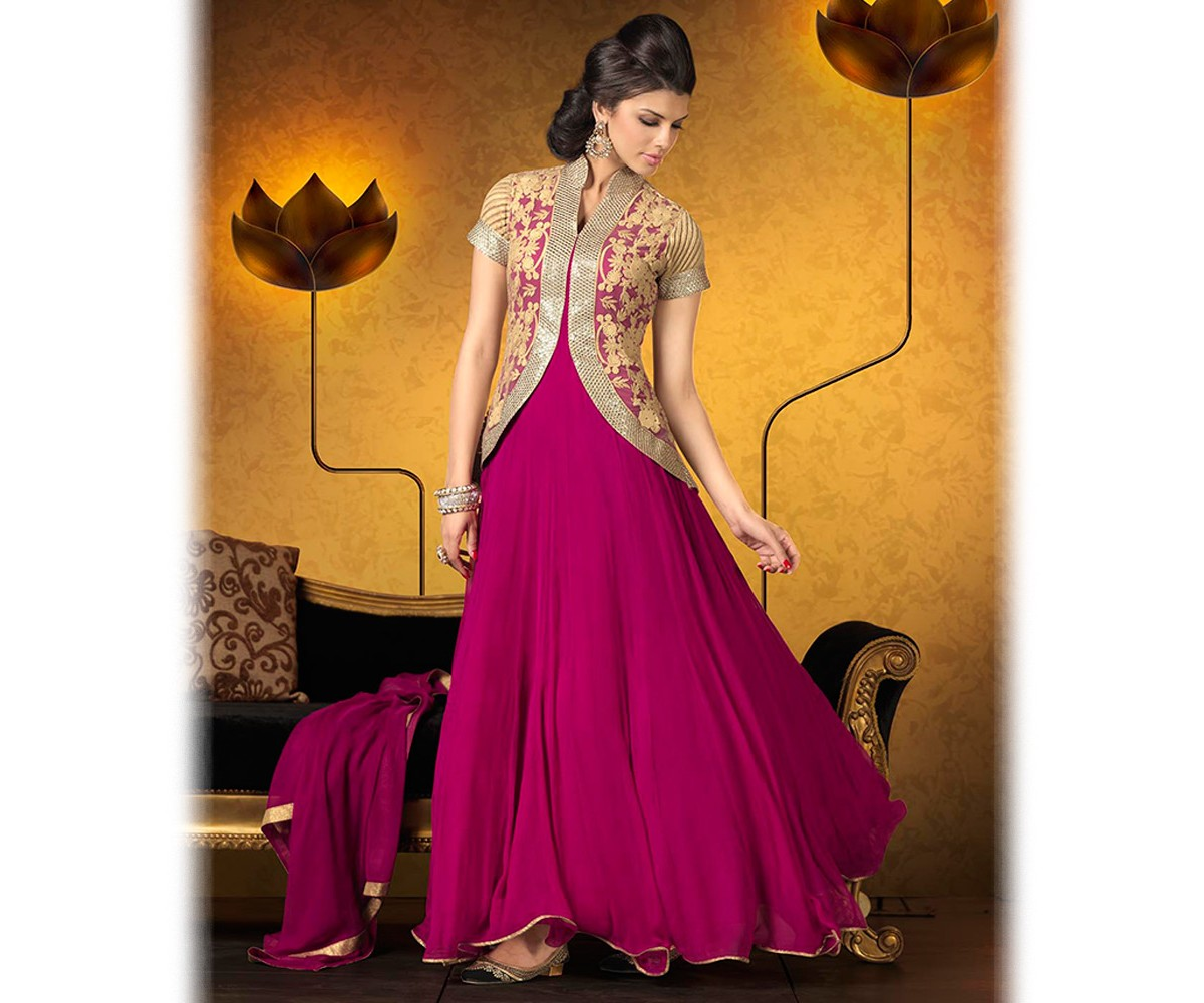Latest Jacket Style Dresses Anarkali Suits & Gowns 2014-2015 for Girls (17)