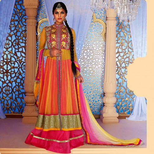 Latest Jacket Style Dresses Anarkali Suits & Gowns 2014-2015 for Girls (18)