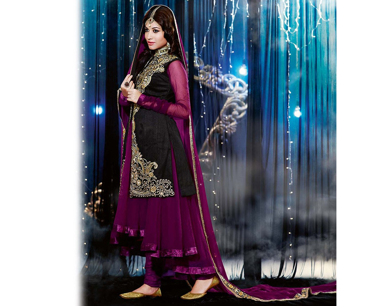 Latest Jacket Style Dresses Anarkali Suits & Gowns 2014-2015 for Girls (21)