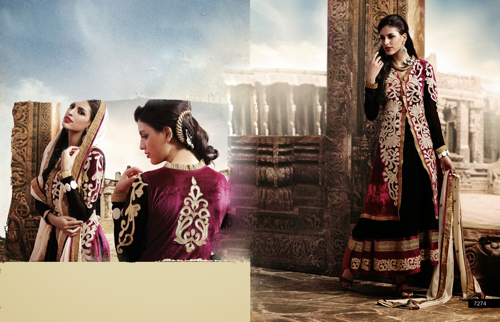 Latest Jacket Style Dresses Anarkali Suits & Gowns 2014-2015 for Girls (3)