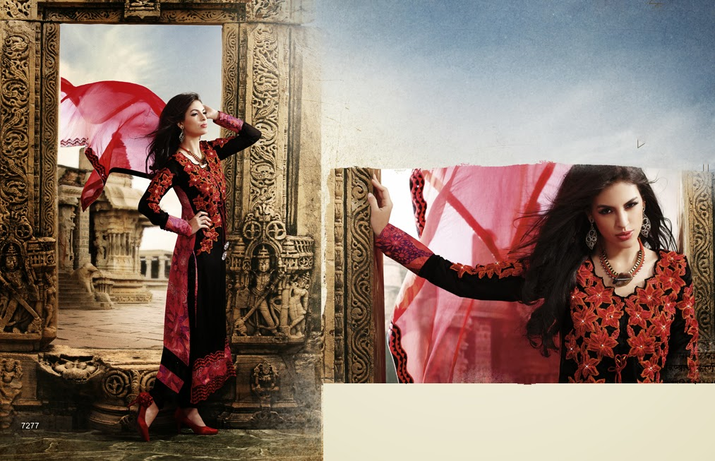Latest Jacket Style Dresses Anarkali Suits & Gowns 2014-2015 for Girls (6)