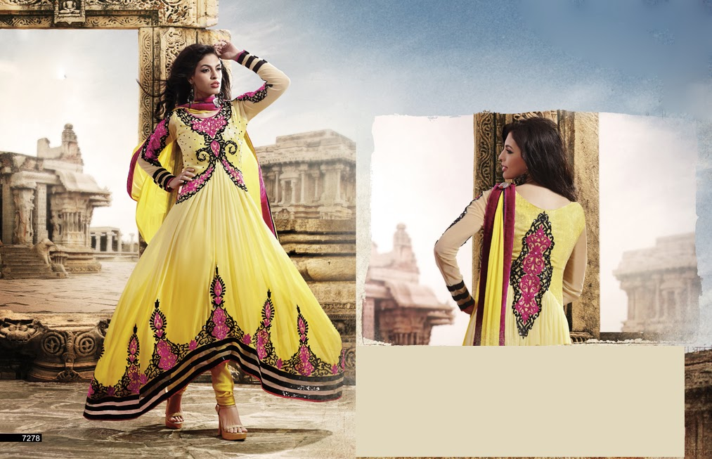 Latest Jacket Style Dresses Anarkali Suits & Gowns 2014-2015 for Girls (7)