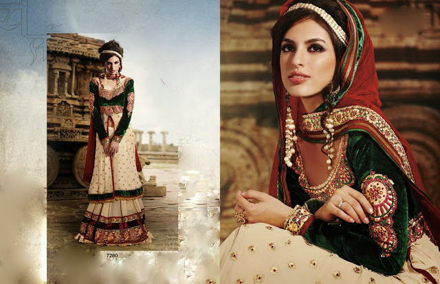 Latest Jacket Style Dresses Anarkali Suits & Gowns 2014-2015 for Girls (9)