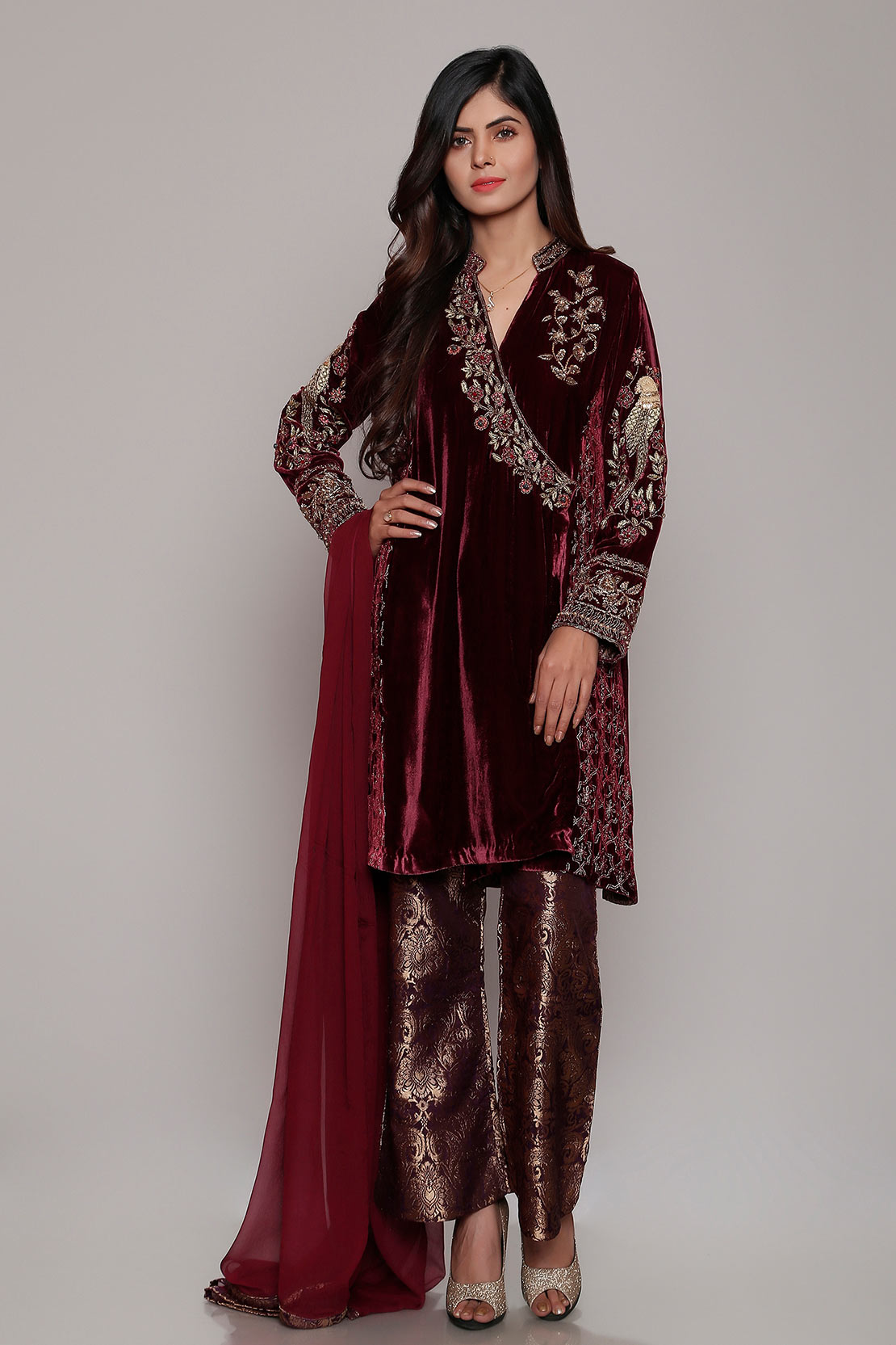 Latest Party Wear Dresses Embroidered Suits 20120 Designs by Chinyere
