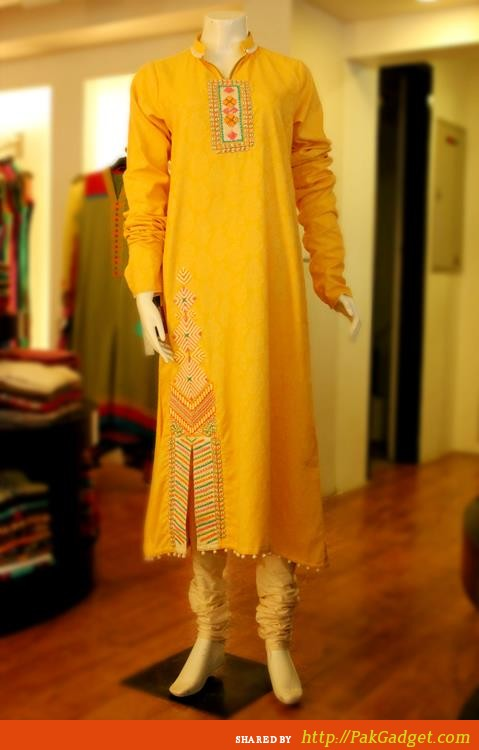 Latest Winter Fashion Long Shirts Dress Designs Collection for Women 2014-2015 (11)