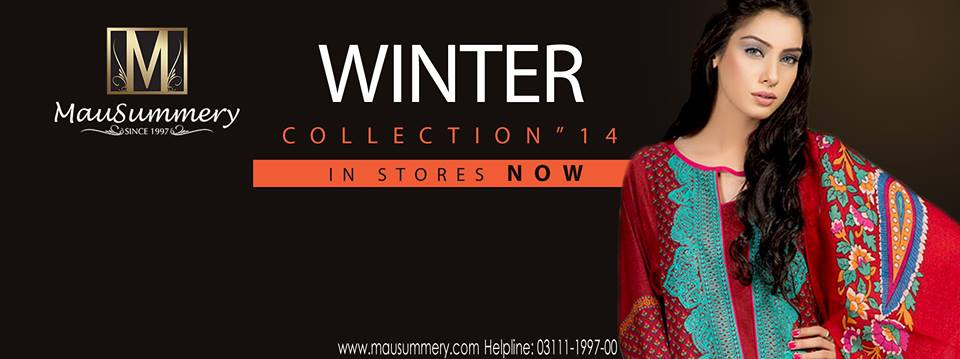 Mausummery Fall winter Dresses Collection 2014-15 with Prices for women (3)